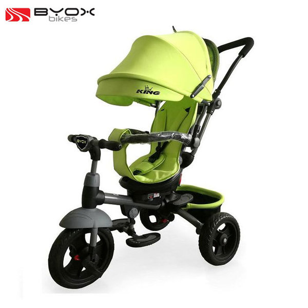 Byox Bikes - Триколка със сенник и родителски контрол King зелена 106319