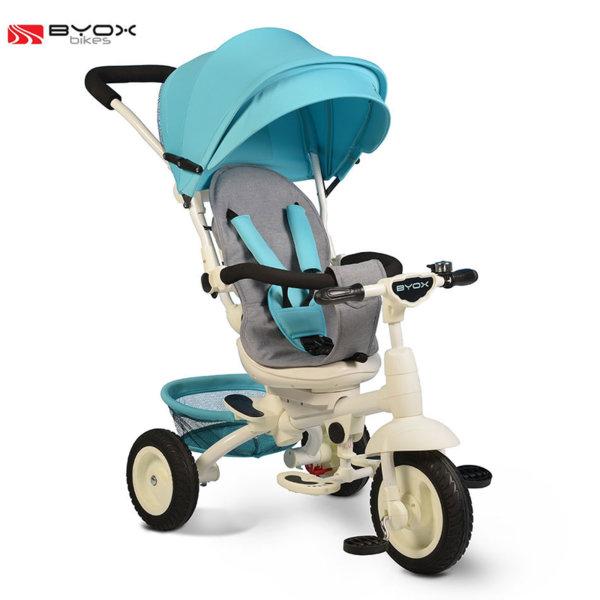 Byox Bikes - Триколка със сенник и родителски контрол QUEEN Синя 106317