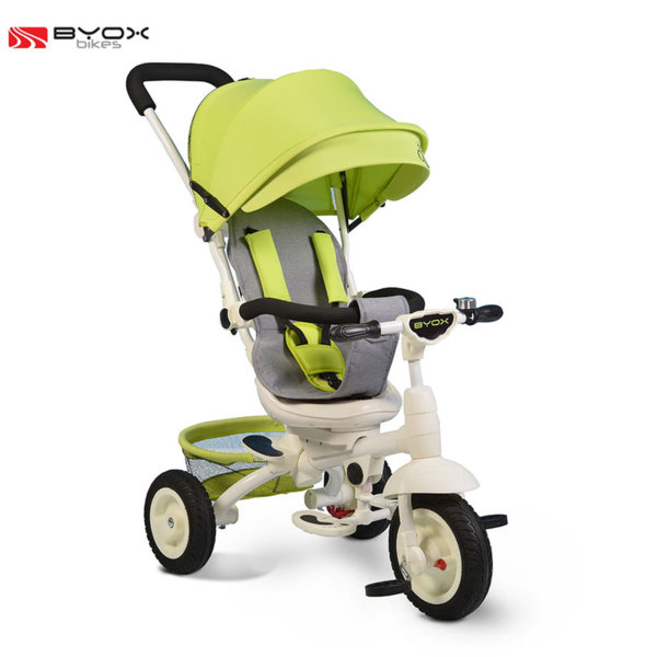 Byox Bikes - Триколка със сенник и родителски контрол QUEEN Зелена 106316