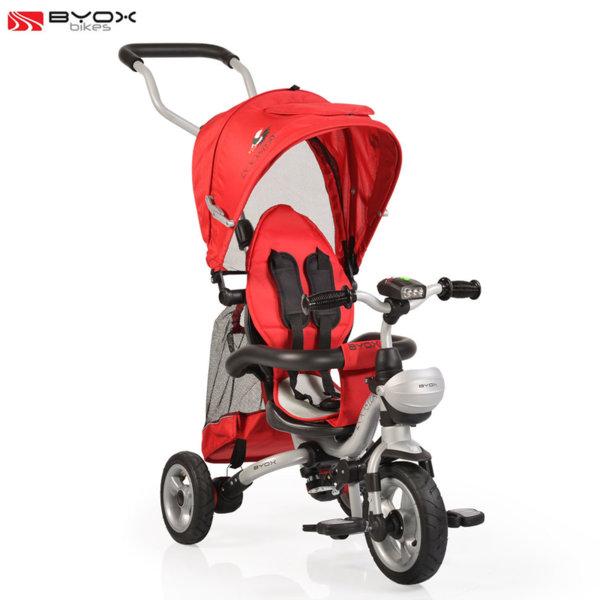 Byox Bikes - Триколка със сенник и родителски контрол ROOSTER Червена 106315