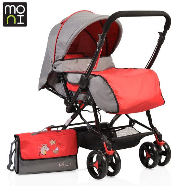 Moni - Комбинирана детска количка Mina червена 106029