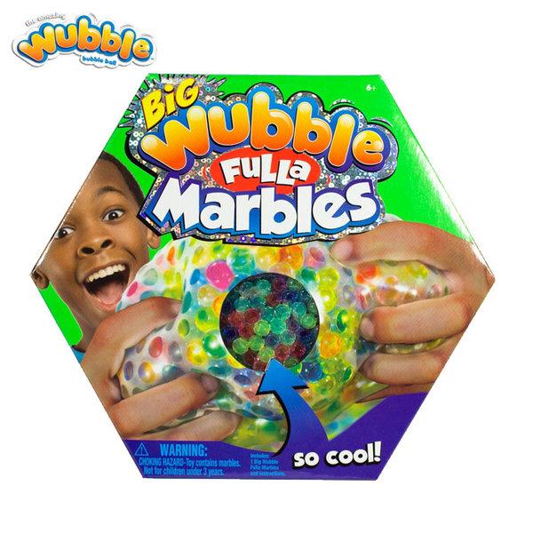 Wubble Bubble - Топка за мачкане с пълнеж от топчета Wubble Fulla Marbles 80621