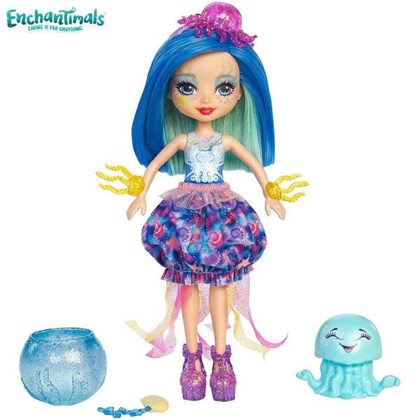 Enchantimals - Кукла с променящ се цвят Jessa Jellyfish и медузата Marisa FKV54
