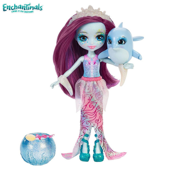 Enchantimals - Кукла с променящ се цвят Dolce Dolphin и делфинчето Largo FKV54