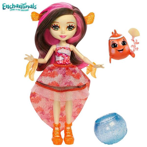Enchantimals - Кукла с променящ се цвят Clarita Clownfish и рибката Cackle FKV54