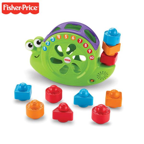 Fisher Price - Музикален люлеещ се охлюв с формички за сортиране и подреждане FRB84
