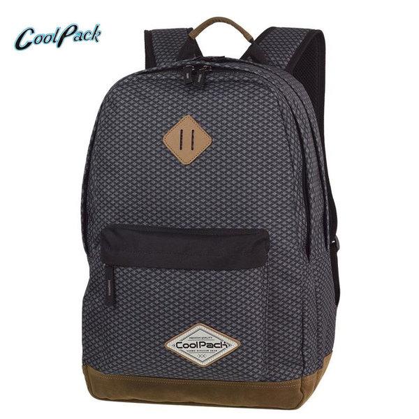Cool Pack Scout - Ученическа раница Dark Grey Net A122