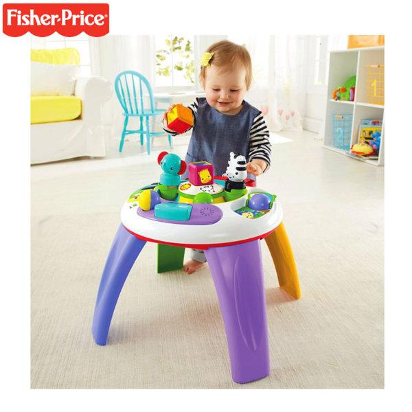 Fisher Price - Занимателна музикална маса със светлини 2в1 Silly Safari DGT86