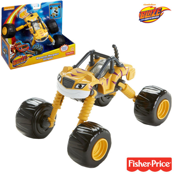 Fisher Price Blaze and the Monster - Трансформираща се количка Stripes DGK59