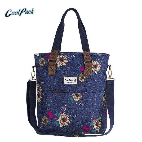 Cool Pack Amber - Чанта за през рамо Blue Denim flowers A095