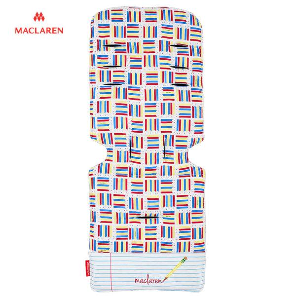 MacLaren - Подложка за количка Universal Pencils white dark blue 31982