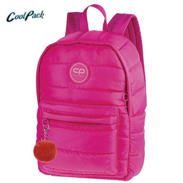 Cool Pack Ruby - Ученическа раница с помпон Pink A109