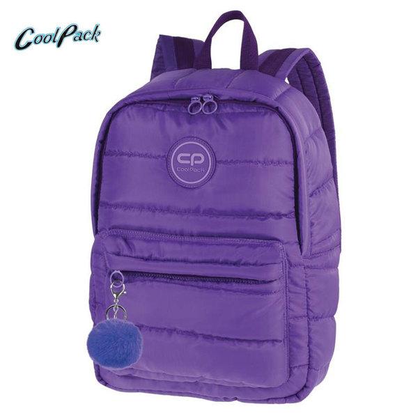 Cool Pack Ruby - Ученическа раница с помпон Violet A111