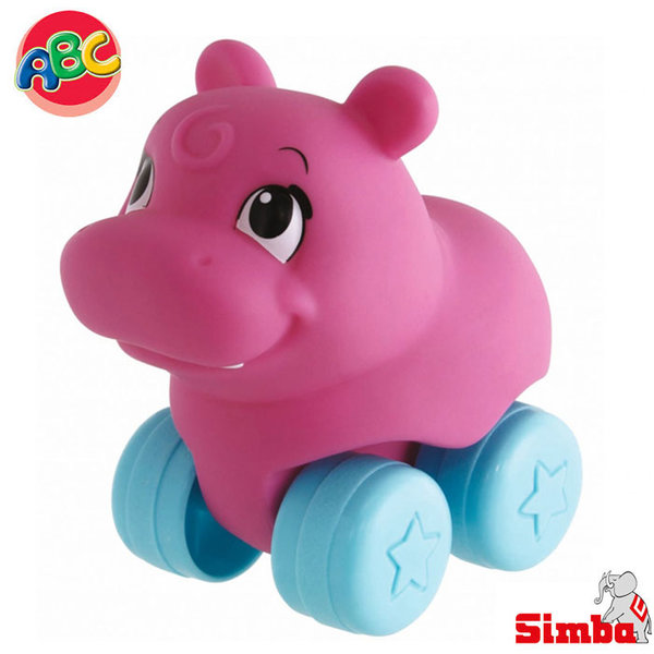 Simba - Roll'n Rail Играчка хипопотам за бутане 104010083