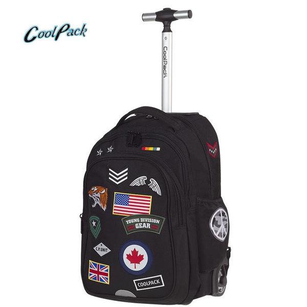 Cool Pack Junior - Ученическа раница тролей Badges Black A424