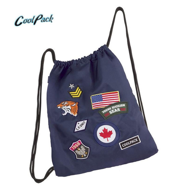 Cool Pack Sprint - Спортна торба Badges Navy А414