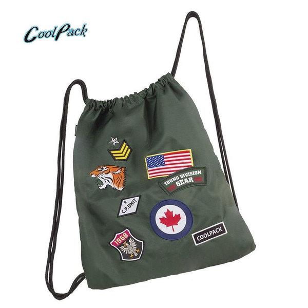 Cool Pack Sprint - Спортна торба Badges Green А421