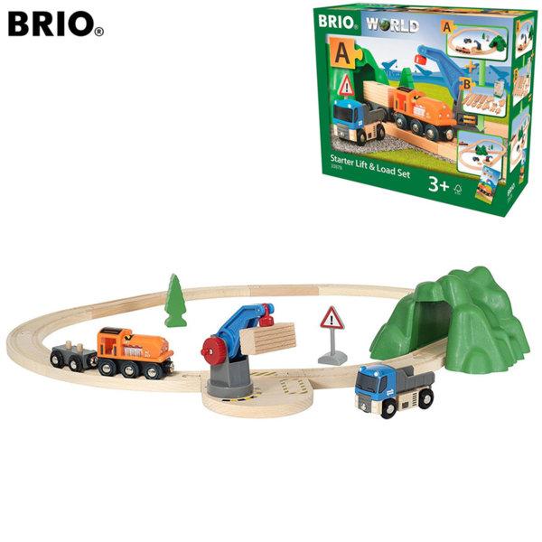 Brio - Дървено влакче с релси 33878