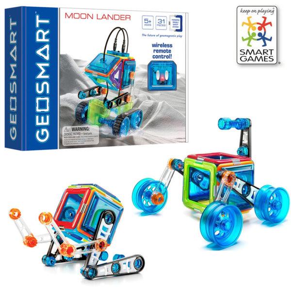 Smart Games - Магнитен конструктор GeoSmart Moon Lander GEO212 5+