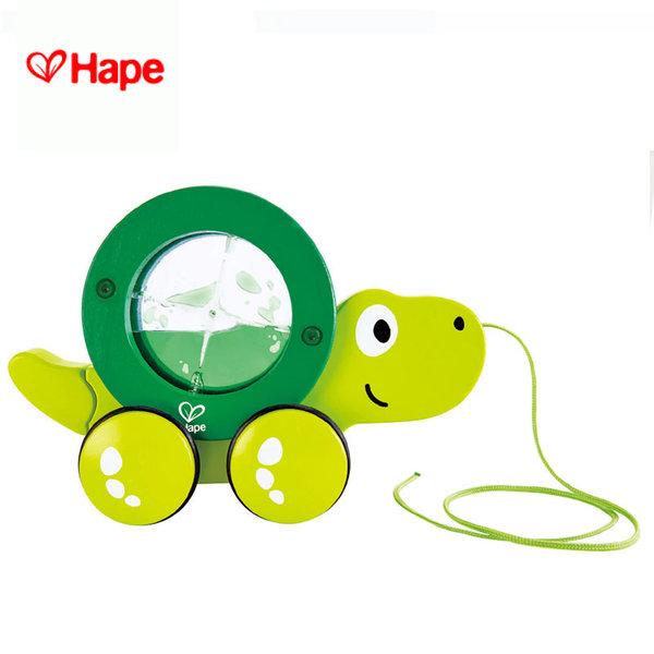 Hape - Детска дървена костенурка за дърпане H0354