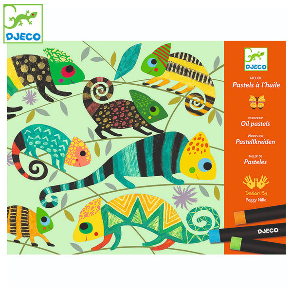 Djeco - Комплект за рисуване Coloured jungle DJ08618