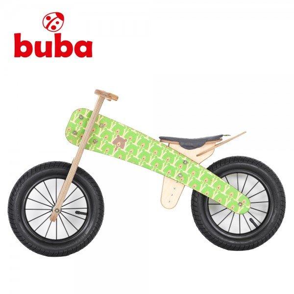 Buba - Детско дървено балансиращо колело Explorer mini Green Bears