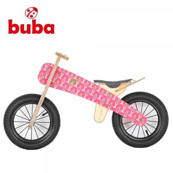 Buba - Детско дървено балансиращо колело Explorer mini Pink Bears