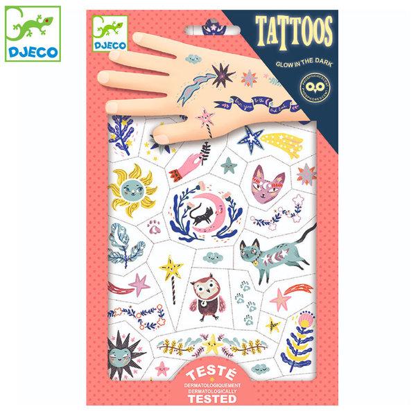 Djeco - Детски татуировки светещи Сладки мечти DJ09592
