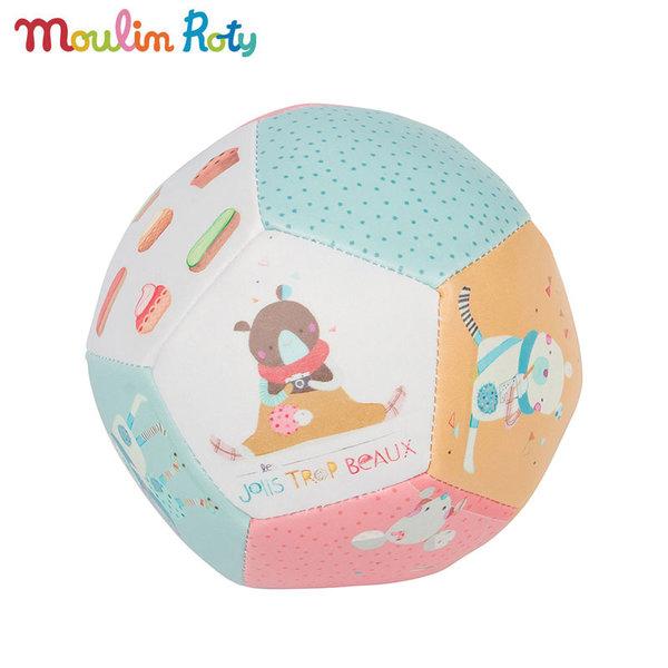 Moulin Roty - Бебешка топка Les Jolis Trop Beaux 10см 665510