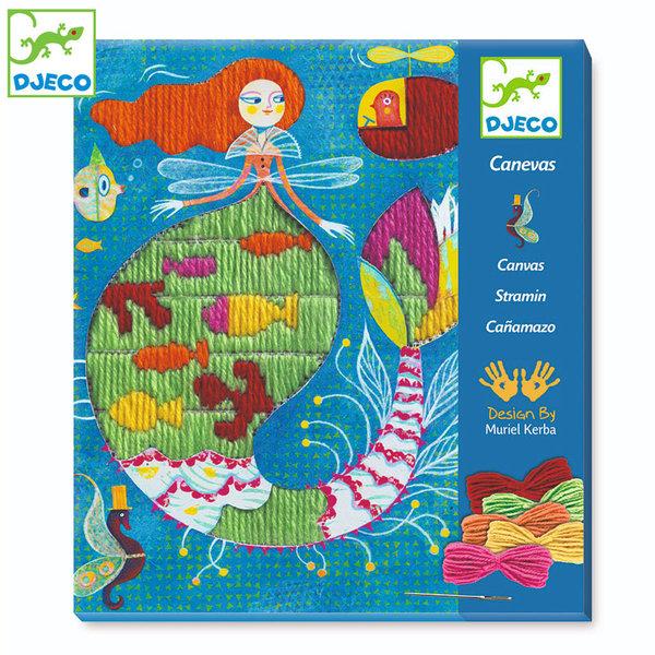 Djeco - Дески комплект за бродиране Mermaid DJ09828