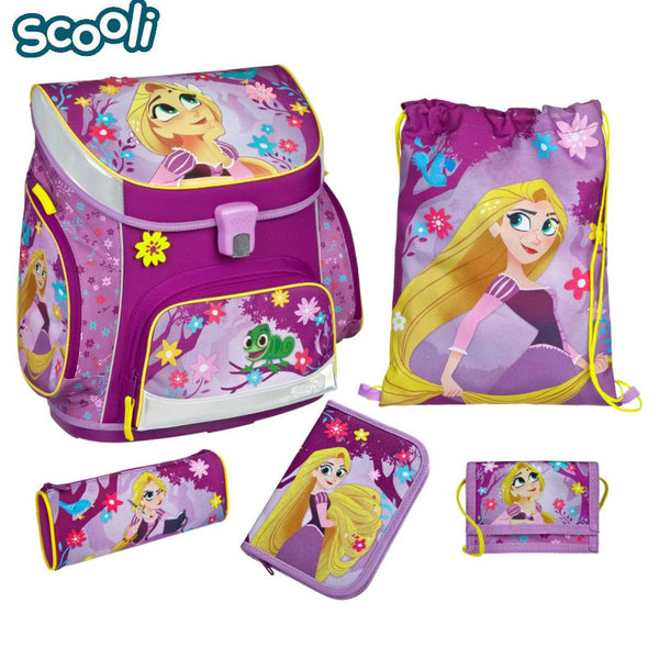 Scooli Disney Rapunzel - Ученическа ергономична раница 5 части Рапунцел 27152