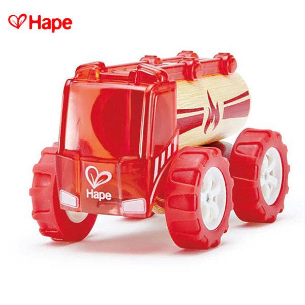 1Hape - Детска кола от бамбук Пожарна H5548