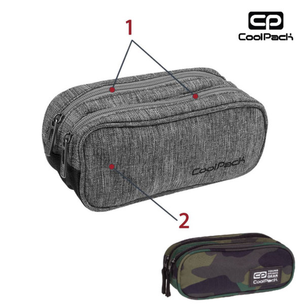 Cool Pack Clever - Несесер с два ципа Camouflage Classic A390