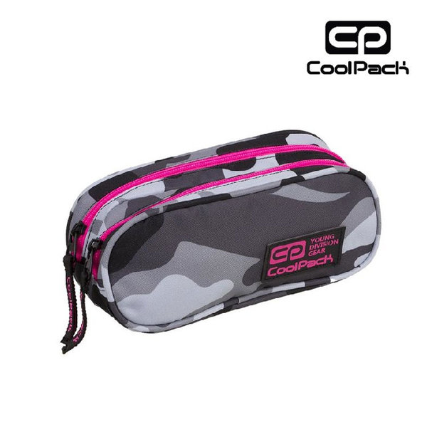 Cool Pack Clever - Несесер с два ципа Camo Pink Neon A360