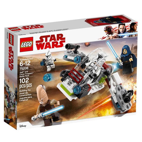 Lego 75206 Star Wars - Боен комплект с джедаи и клонирани войници
