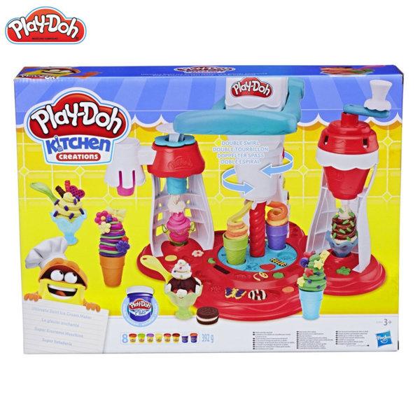 PlayDoh - Детски комплект Забавления в кухнята Машина за сладолед E1935