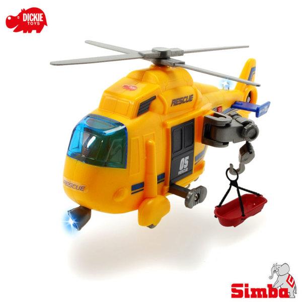 Simba Dickie - Спасителен хеликоптер със светлинни ефекти 15см 203302003