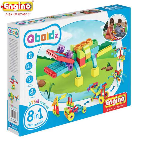 Engino - Конструктор Qboidz 8в1 Алигатор QB08A