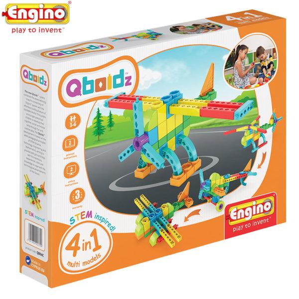 Engino - Конструктор Qboidz 4в1 Самолет QB04C