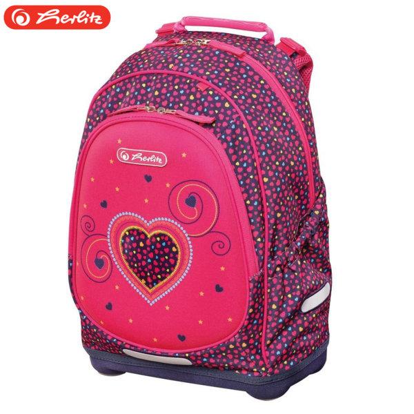 69fd4796ee8 Herlitz - Bliss Ученическа ергономична раница Херлиц Pink Hearts 50014002
