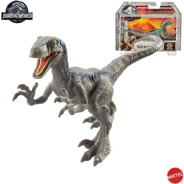 Mattel Jurassic World - Динозавър Attack Pack Velociraptor Blue FPF11
