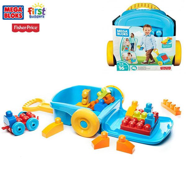 Fisher Price Mega Bloks - Детски строител в куфар за дърпане FLT37