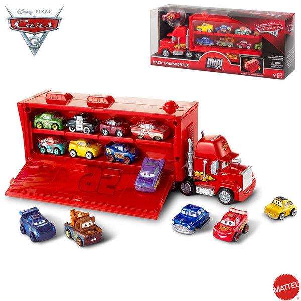 Mattel - Disney Cars Камион Мак транспортьор с 1 количка FLG70