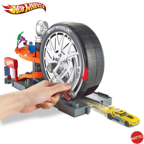 Hot Wheels - City Игрален комплект Магазин за супер гуми FNB15