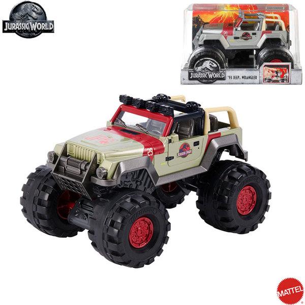 Matchbox Jurassic World - Джип 93 Jeep Wrangler 1:24 FMY48