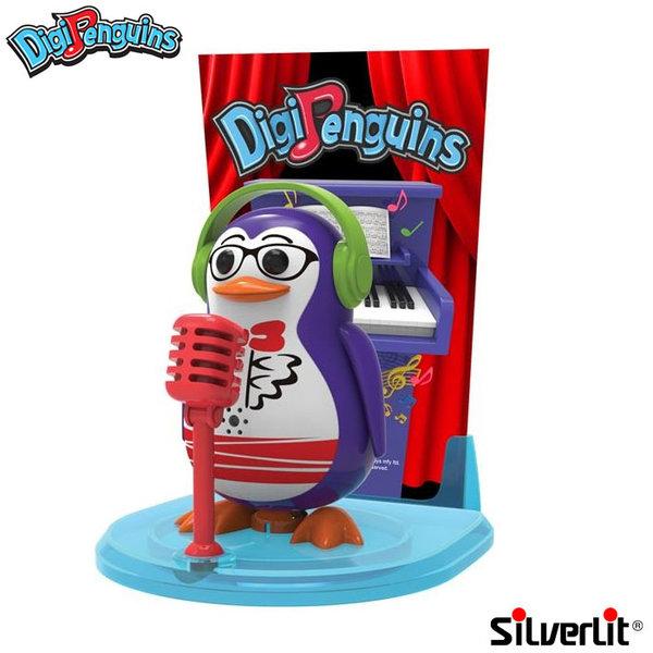 Silverlit - DigiPenguins Дигитален пеещ и танцуващ пингвин със сцена и микрофон лилав 88347