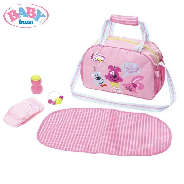 Baby Born - Чанта с подложка за преповиване и аксесоари Бейби Борн 824436