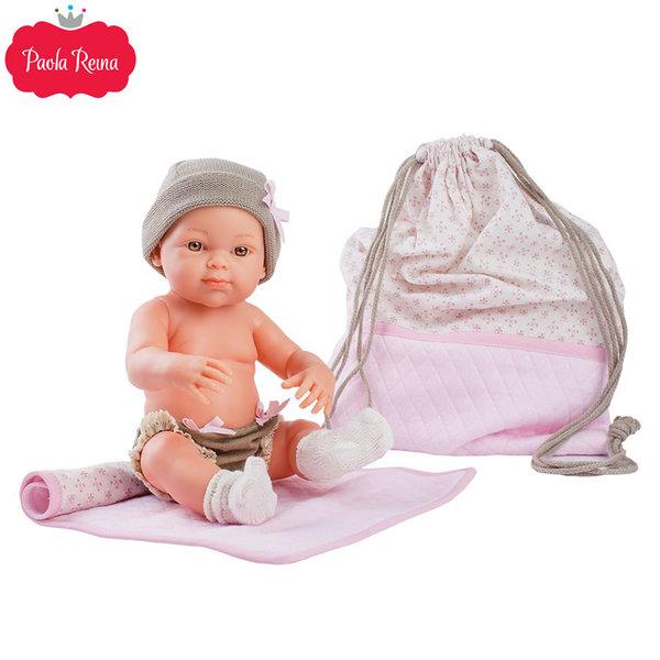 Paola Reina - Pikolines Кукла бебе Rosa с постелка и чанта 32см 05104
