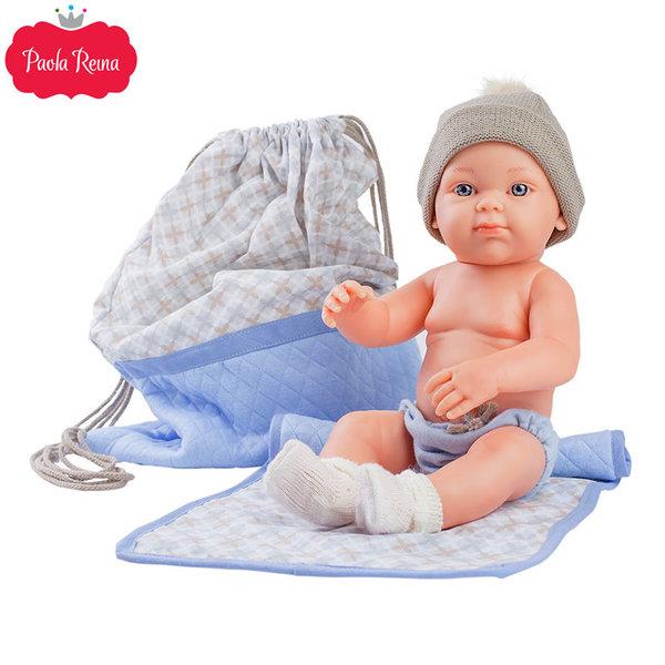 Paola Reina - Pikolines Кукла бебе Azul с постелка и чанта 32см 05109