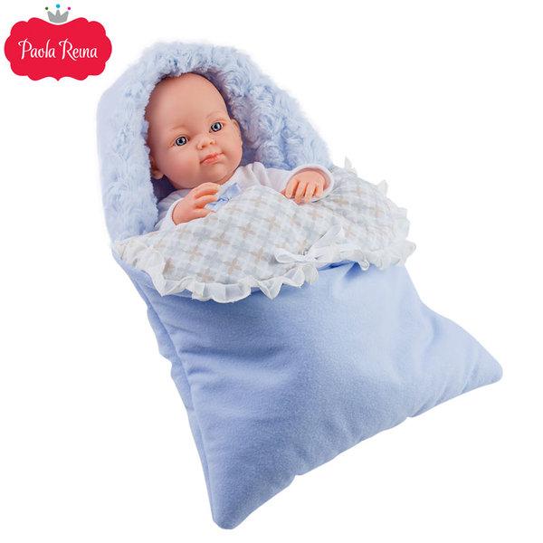Paola Reina - Pikolines Кукла бебе Azul със спално чувалче 32см 05106